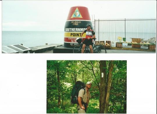 hiking and biking